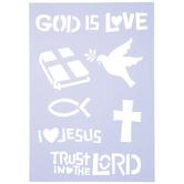 God Is Love Stencil