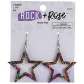 Multi-Color Star Earrings