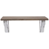 White Rustic Metal Wall Shelf