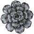 White & Black Marble Succulent Flower