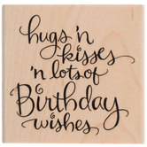 Lots Of Wishes Rubber Stamp