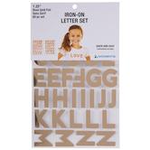 Rose Gold Foil Letter Iron-On Applique Alphabet