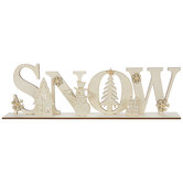 Snow Cutout Wood Decor