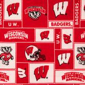 Wisconsin Block Collegiate Fleece Fabric