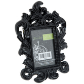 "Black Glossy Ornate Frame - 2 1/2"" x 3 1/2"""