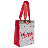Metallic Dots Merry Gift Bag