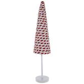 White & Red Striped Cone Tree