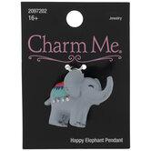 Happy Elephant Pendant
