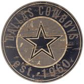 Dallas Cowboys Round Wood Wall Decor