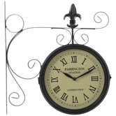 Black Dual Face Paddington Station Wall Clock