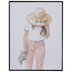 Be Happy Girl In Hat Wood Wall Decor