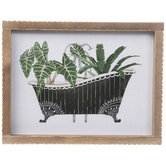 Plants In Bathtub Framed Wall Decor