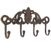Flourish Metal Wall Decor With Hooks