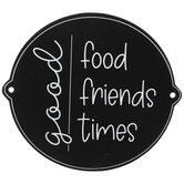Good Food, Friends & Times Wood Wall Decor