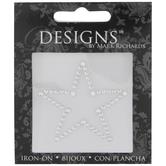 Silver Star Rhinestone Iron-On Applique