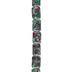 Green & Pink Dyed Rectangle Jasper Bead Strand