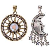 Sun & Moon Pendants