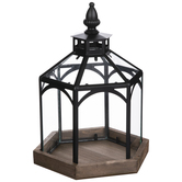 Black Gazebo Metal Lantern