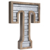 Galvanized Metal Letter Wall Decor - T