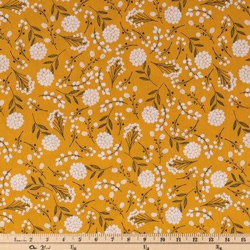 Mustard Woodland Cotton Apparel Fabric