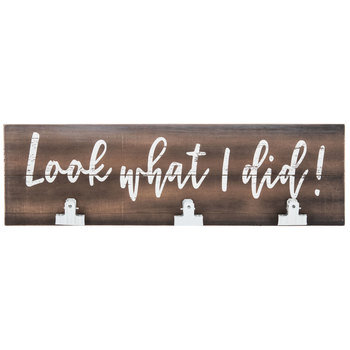 Look What I Did Wood Wall Decor With Clips