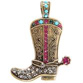 Cowboy Boot Pendant