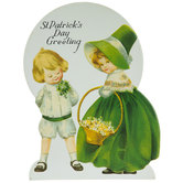 St. Patrick's Day Greeting Vintage Decor With Easel