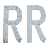 """Galvanized Metal Letters R - 4"""""""