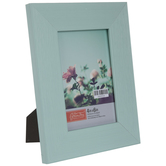 """Turquoise Distressed Wood Look Frame - 4"""" x 6"""""""