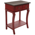 Distressed Red Wood Side Table