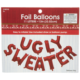 Ugly Sweater Foil Balloon Banner