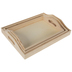 Rectangle Wood Tray Set With Handles