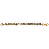 Agate Beaded Connector Bracelet
