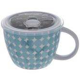Blue Polka Dot Soup Mug