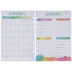 Watercolor & Gold Foil Undated Planner Inserts - 12 Months
