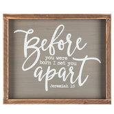 Jeremiah 1:5 Wood Decor