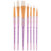 White Talkon Paint Brushes - 7 Piece Set