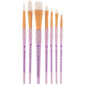 White Talkon Paint Brushes - 7 Piece Set