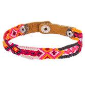 Multi-Color Leather Woven Bracelet