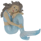 Blue Sitting Mermaid