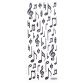 Music Notes Puffy Stickers