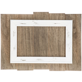 Wood Slat Panel with White Frame
