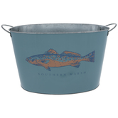 Fish Southern Marsh Metal Container
