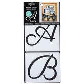Cursive Uppercase Alphabet Stencils