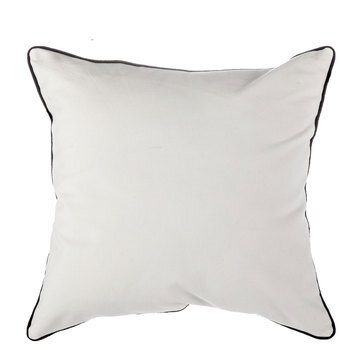 Canvas Pillow Cover With Black Trim