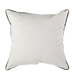 White Canvas Pillow Cover With Black Trim - Small