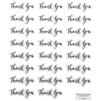 Thank You Script Stickers