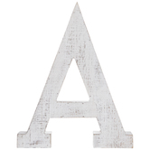 Whitewash Wood Letter Wall Decor - A