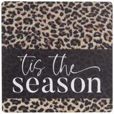 'Tis The Season Leopard Print Magnet