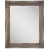 Beveled Wood Wall Mirror